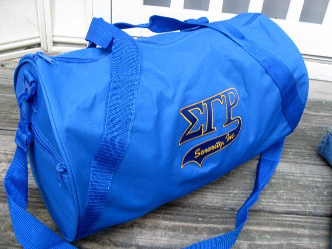 sigma gama rho duffel bags | Sigma Gamma Rho Sorority Barrel Duffle Bag