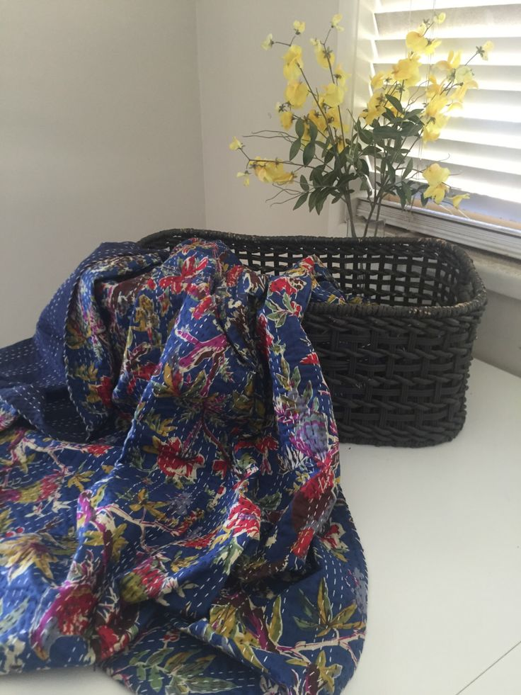 A personal favorite from my Etsy shop https://www.etsy.com/au/listing/244393323/kantha-quilt