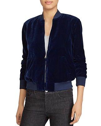 Lauren Ralph Lauren Velvet Bomber Jacket