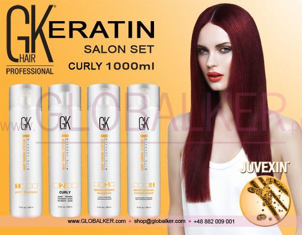 Keratin Hair salon set GK Hair Curly 1000ml Global Keratin Juvexin