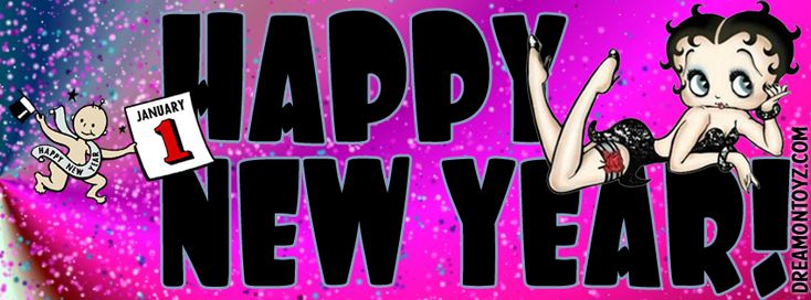 Click on image to see largest available. Happy New Year! - Facebook Timeline Covers Betty Boop with Baby New Year January 1st Full size...