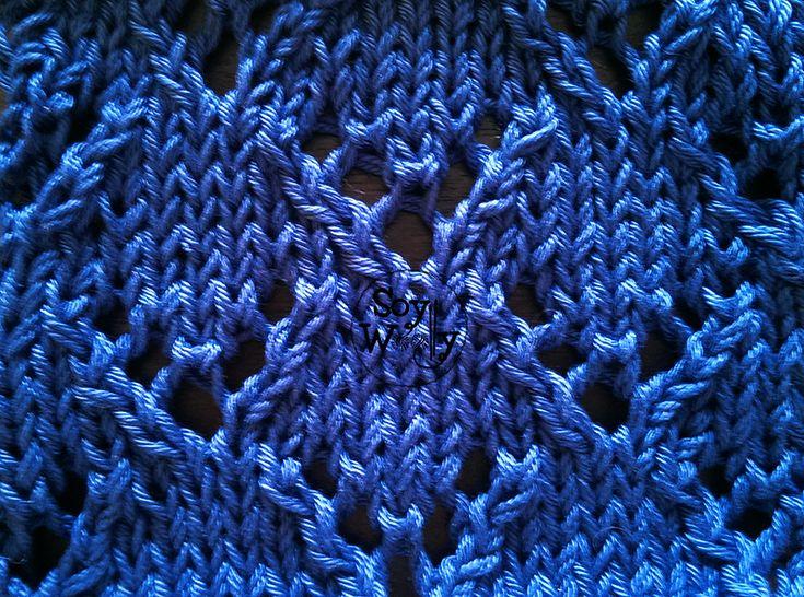 Punto de Encaje súper fácil tejido con dos agujas