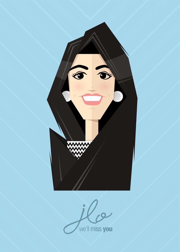 Flat Caricature - Jennifer