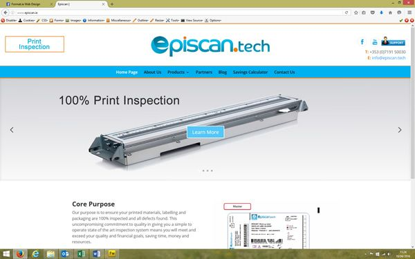 Episcan ensures your printed materials, labelling and packaging are 100% inspected and all defects found. Website designed and built by Format Web Designers in Sligo. www.format.ie