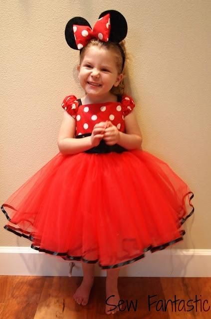 A Homemade Minnie Mouse Costume For Little Girls