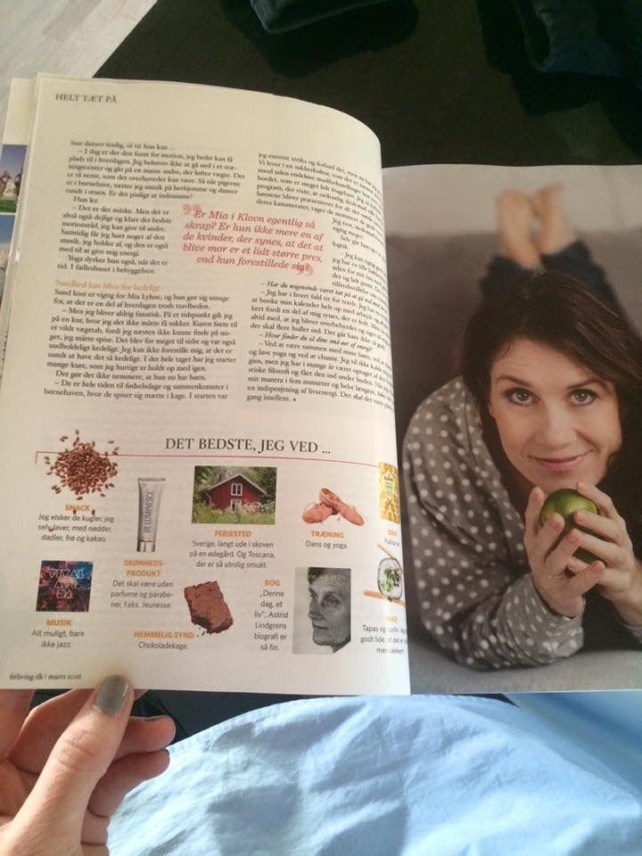 "Se ... Det beste jeg vet... Mia Lyhne. I magasinet ""Fit Living"""
