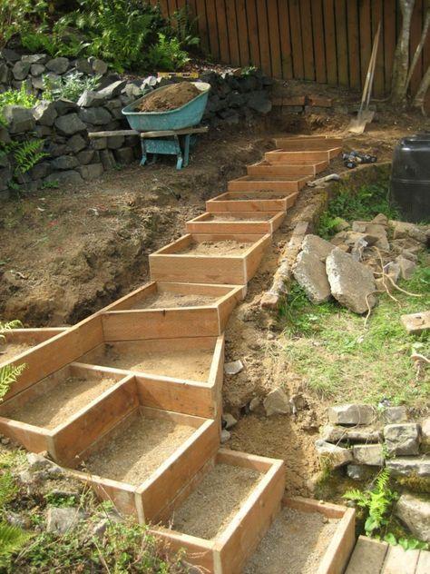 Die besten 25+ Pflanzentreppe Ideen auf Pinterest Außentreppen - ideen gestaltung steingarten hang