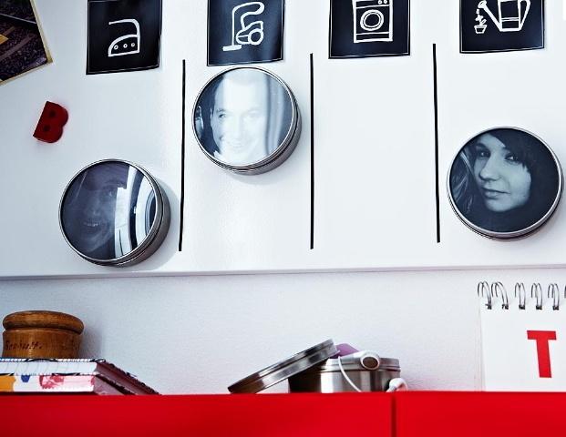 IKEA 3 de acero inoxidable magnético contenedores de especias frascos latas oficina NUEVO GRUNDTAL | eBay