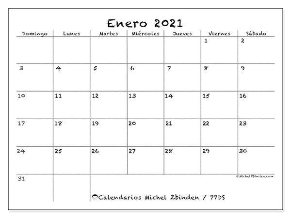 Calendario Enero 2021 En Blanco in 2020 | Study planner, To do