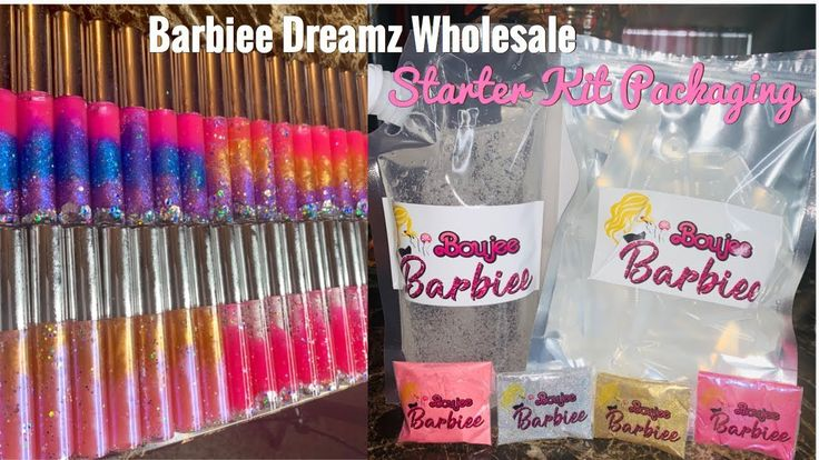 Barbiee dreamz wholesale lipgloss starter kit packaging