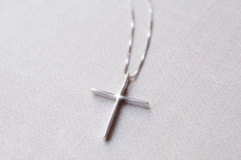 925 Sterling Silver cross necklace,simple silver necklace