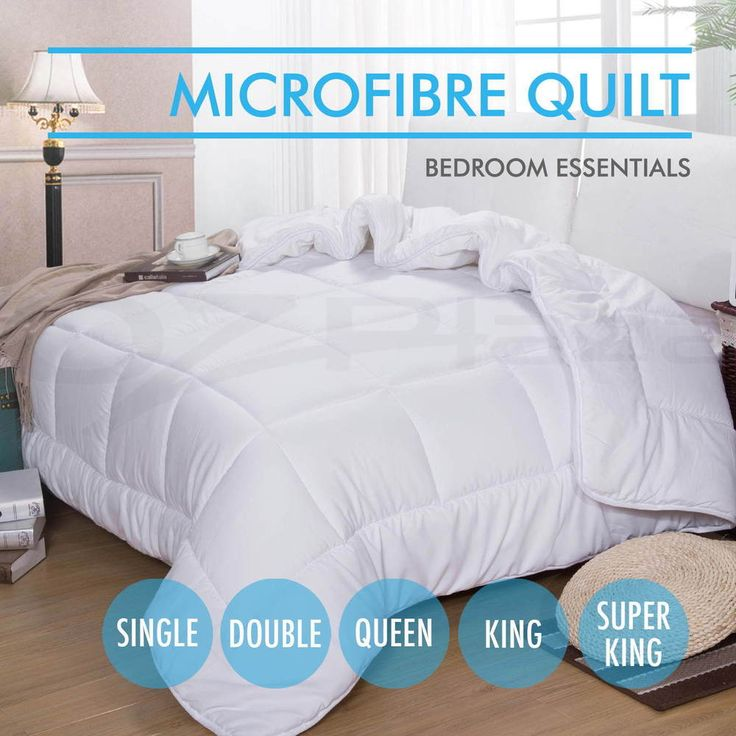 Summer Microfiber Quilt Weight Microfibre Duvet Blanket ALL Sizes All Season