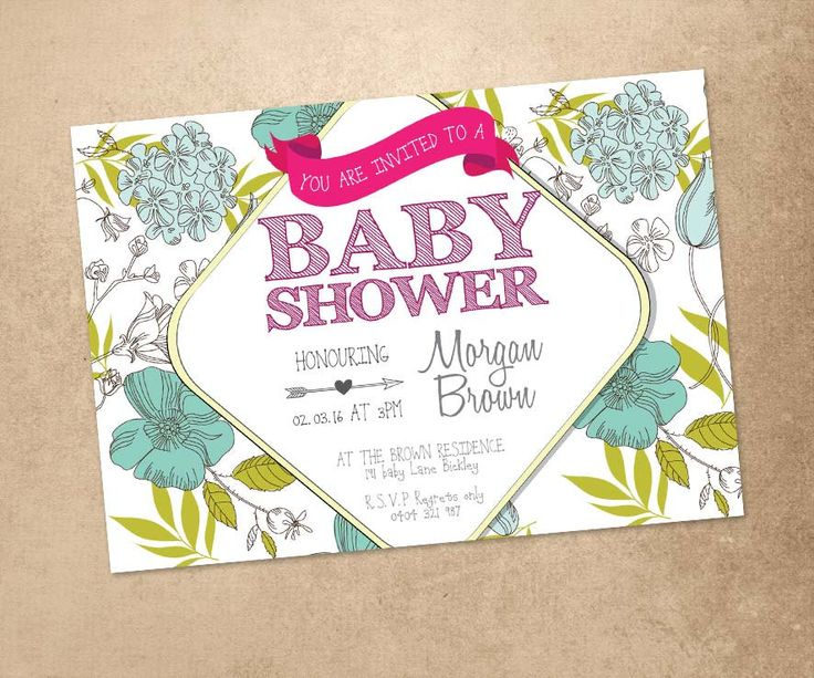 Personalised Baby Shower Invitation - Rustic Design Baby Shower Invitation - Customised Shower Invite - Rustic Design Baby Shower Invite by PaperCrushAus on Etsy