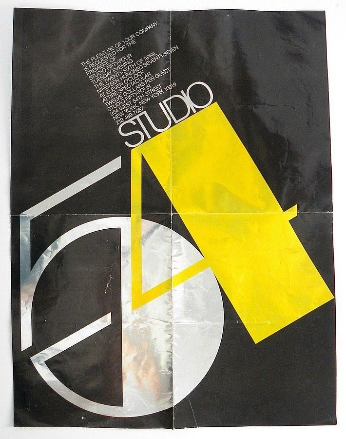 Studio 54 opened on Tuesday, April 26, 1977 – I was there! (Grand Opening Invitation)