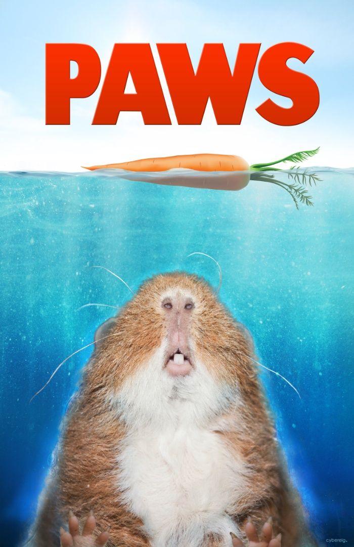 Piggie Parodies: PAWS Art Print