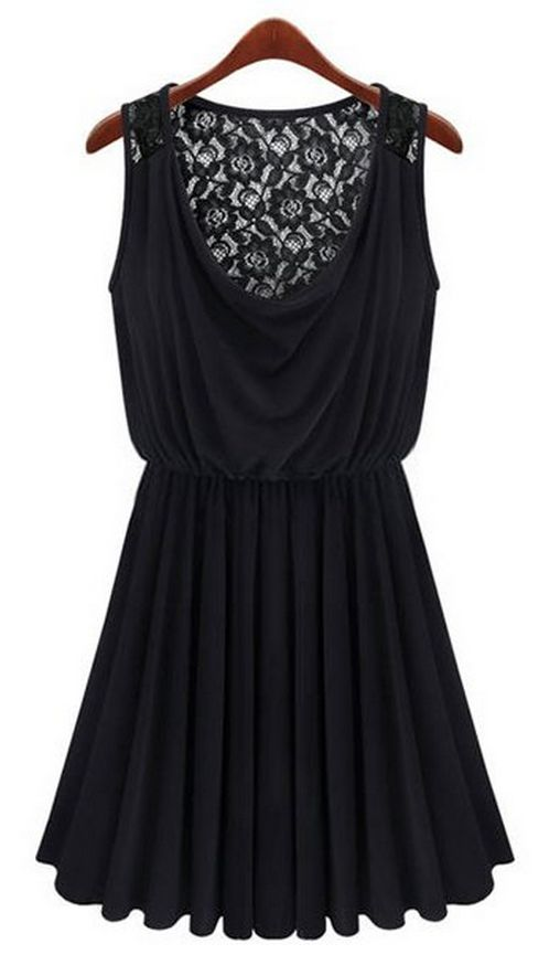pleated dress with a lace back