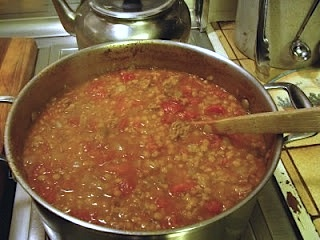 The Best Sausage and Lentil Stew. This looks like Carabas' lentil soup.  I love that.