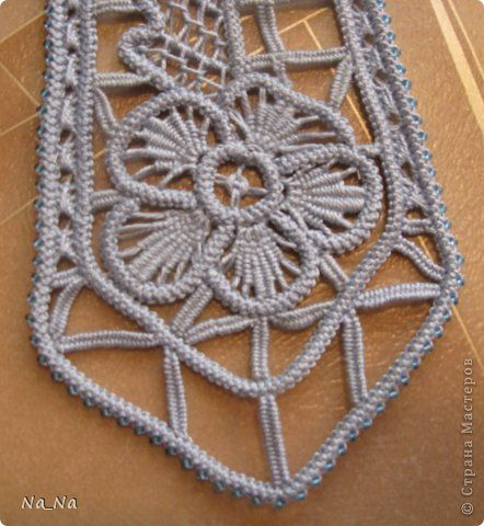 Romanian Point Lace neck tie - detail