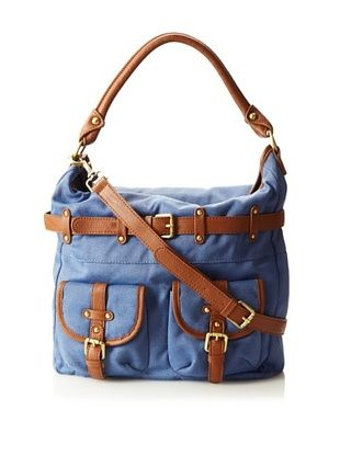 Co-Lab By Christopher Kon Women's Convertible Canvas Hobo, Blue, One Size