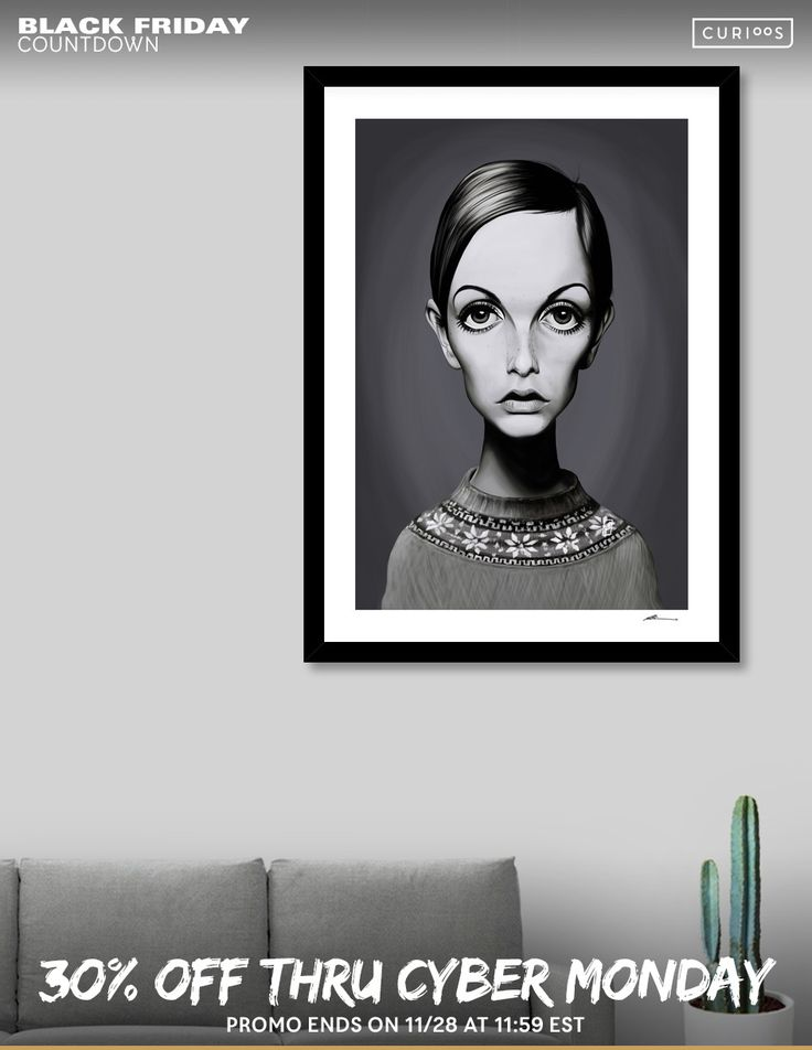 Discover «Twiggy», Numbered Edition Fine Art Print by rob art | illustration - From $20 - Curioos