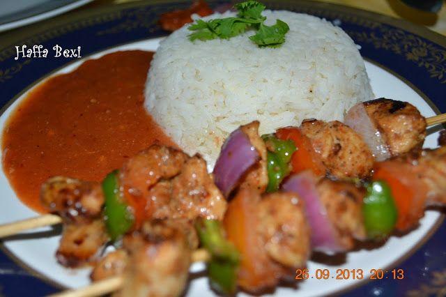 Chicken Shashlik with Sauce - http://haffaskitchen.blogspot.com/2013/09/chicken-shashlik-with-sauce.html