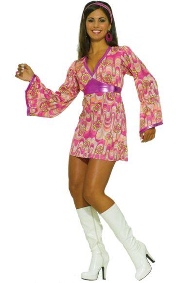 Adult Flower Power Swinging 60s Costume | Jokers Masquerade
