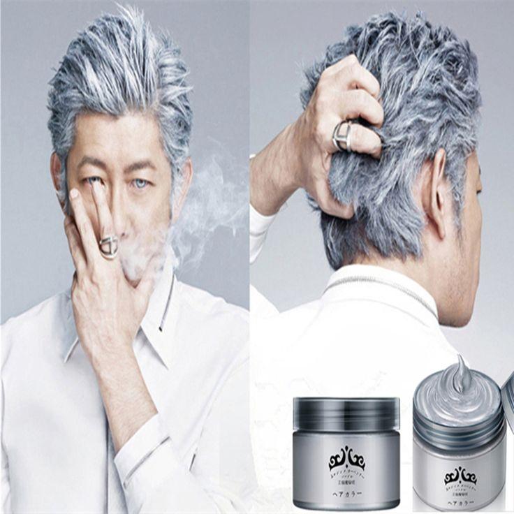 Srebrny Wosk 120 ml Mężczyzna kobiet Professional Hair Pomady, Nawilżający Stylizacji Puszyste Matte Stereotypy Woski, Żel do włosów Pomady