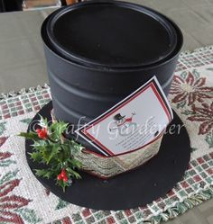 How to make a snowman hat at craftygardener.ca