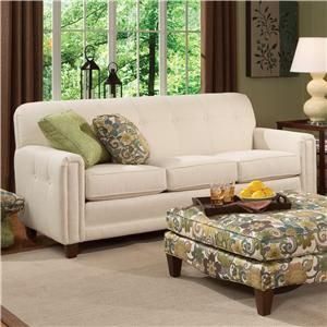 Smith Brothers 392 Upholstered Sofa With Tufted Back   Miller Brothers  Furniture   Sofa West Central
