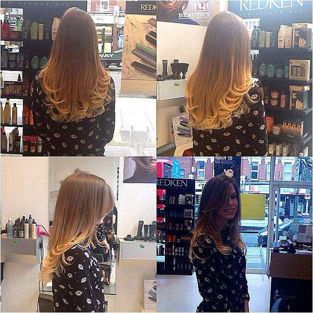 Fresh out of our salon chair - No model or photo shoot, just great local hairdressers! - #Hair by Lauren at #kayandkompany #muswellhill #London #N10 #salon #hairdressers #ombre #balayage #haircolour #beauty