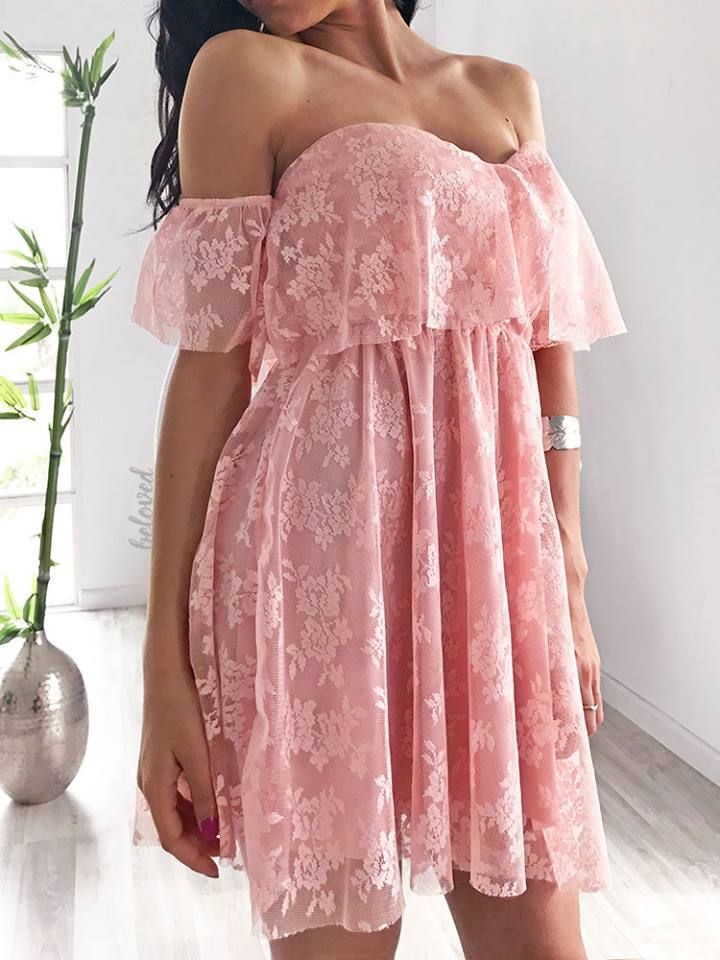 Stephanie Pink Mini Dress