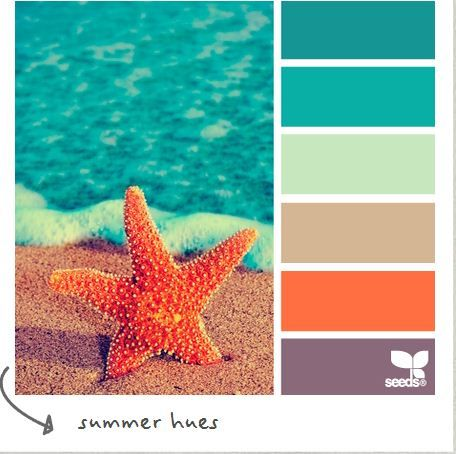 Summer Hues Color Palette from Design-Seeds