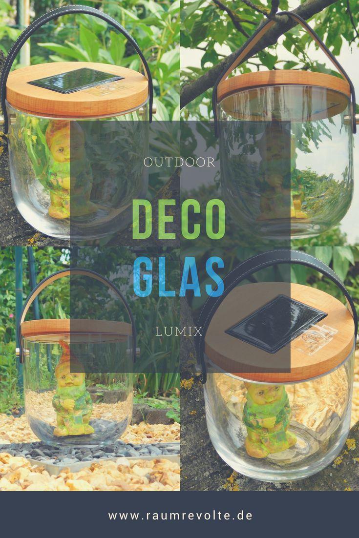 Fancy Solar LED Laterne zum selbst dekorieren im G Garten Lumix Deco Glas