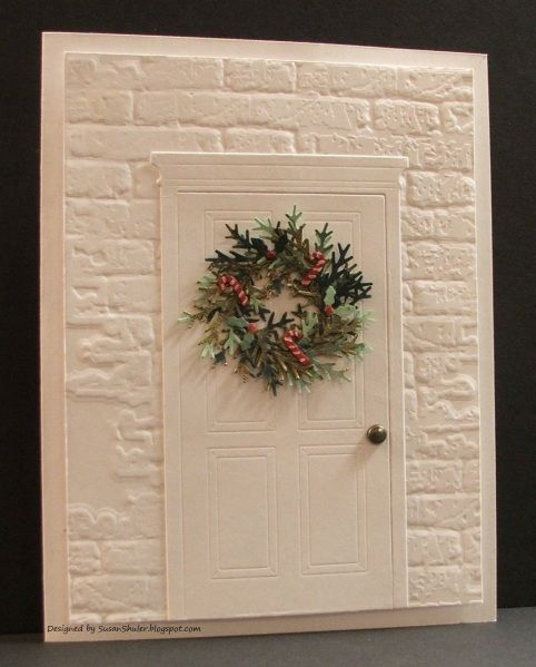 Christmas Door by Auntie Susan - Cards and Paper Crafts at Splitcoaststampers