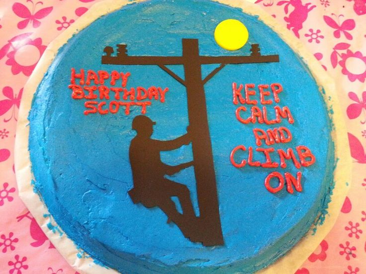 Electric Lineman Cookie Cake Birthday Cakes Pinterest
