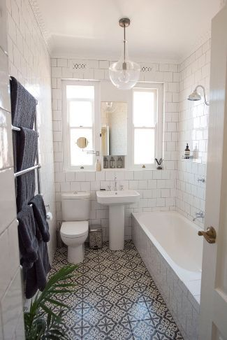 classic bathroom renovation in sydney using on range of spanish wall and floor tiles - Bathroom Design Sydney