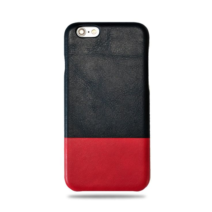 Peacock Blue Crimson Red IPhone 6 6s Leather Case