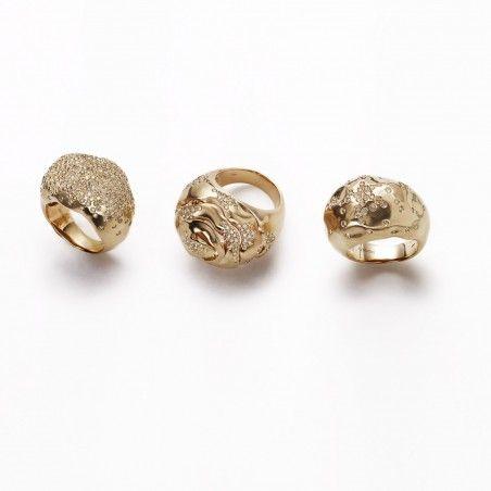 Anillos de estambul, y diamantes en oro rosa champán