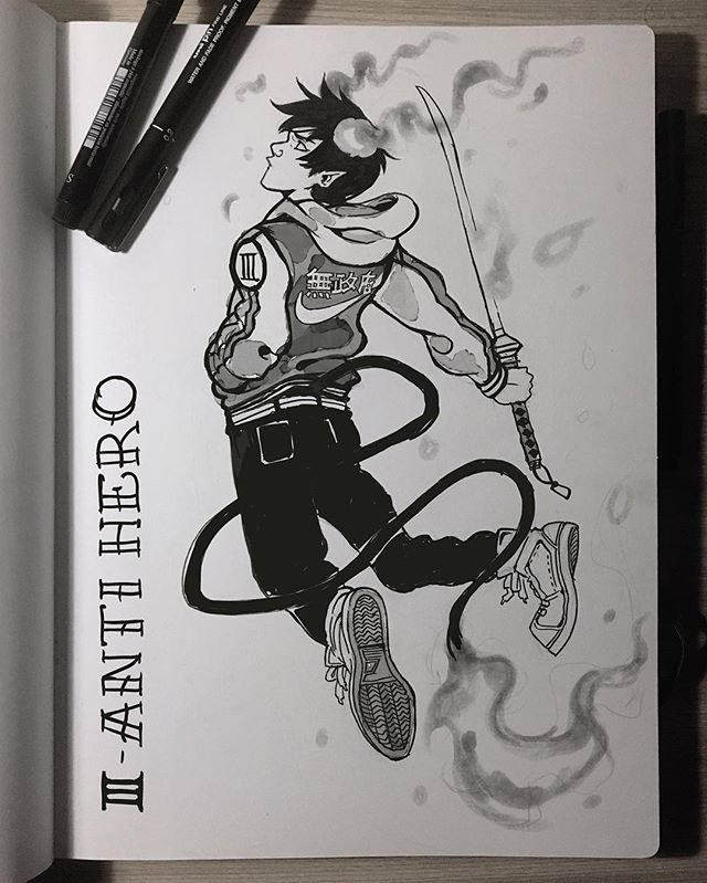 #inktober 3 - Antihero 🔥 I did Rin Okumura from Ao no Exorcist because he's my favorite antihero ever! Tbh Ao no Exorcist and Magi are the only mangas I really keep reading these days, I strongly recommend it if you don't know it! - #aonoexorcist #blueexorcist #anime #manga Ps: There's a new season of the anime coming up on 2017ヽ(;▽;)ノ