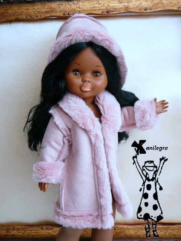 ANILEGRA COSE PARA NANCY: Fresa y chocolate reedito el abrigo rosa de piel vuelta para la negrita