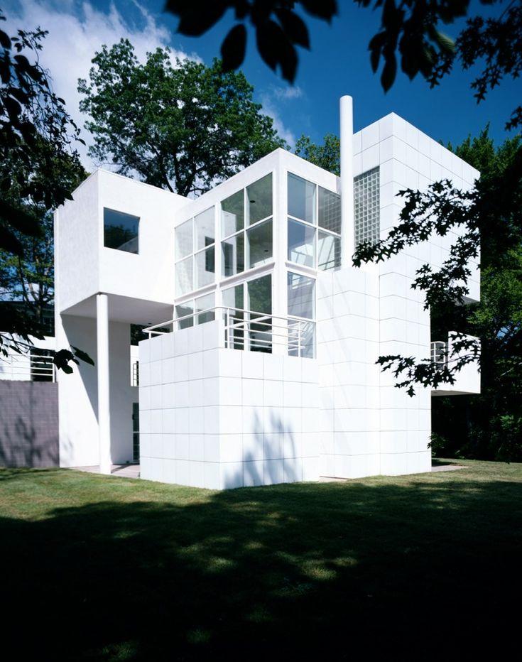 25 b sta richard meier id erna p pinterest modern for Casa moderna gardone