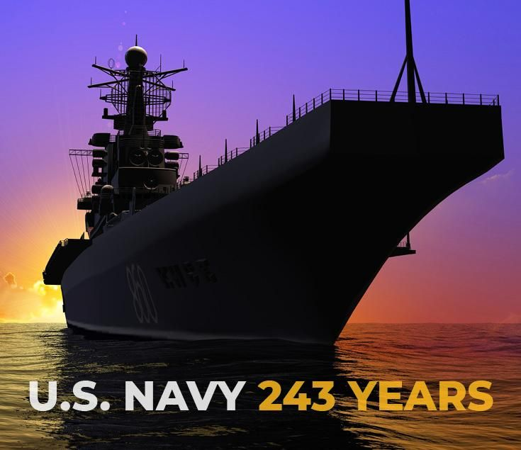 Happy 243rd Birthday To The U S Navy Thank You For Your Service Holiday Fun Navy Holiday