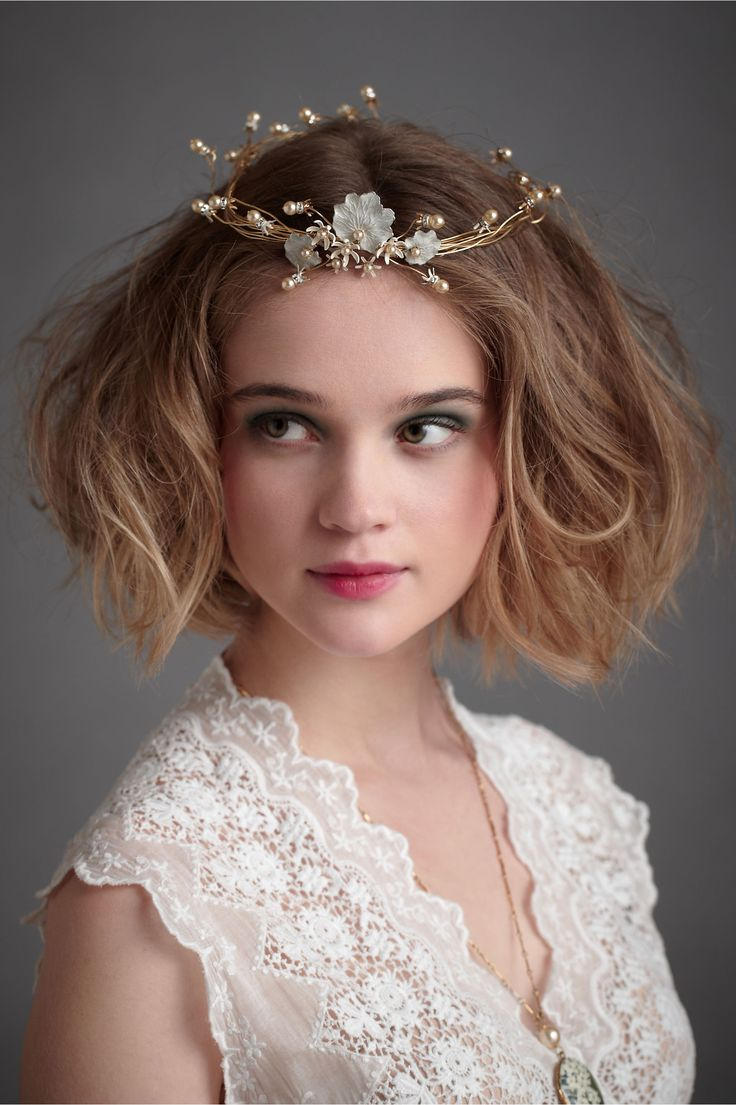 I cant get this out of my head - even though it probably wont work with my chosen hair style. Lilium Halo in SHOP Shoes & Accessories Headpieces at BHLDN