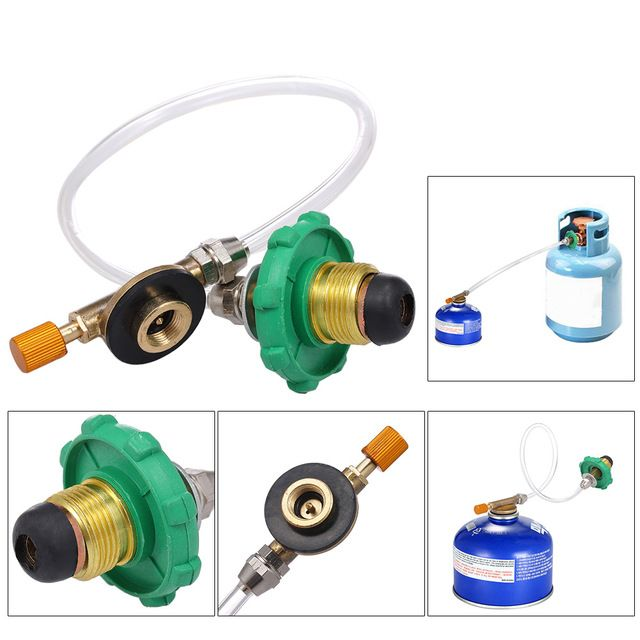 Cooking Gas Tank Adapter Connector Aluminum Alloy Coupler Outdoor Camping
