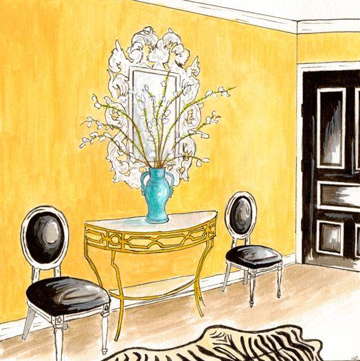 hallway: Design Inspiration, Decor Rooms, Beautiful Entry, Black Doors, Girls Design, Interiors Design, Glamour Girls, Girls Entry, Art Deco