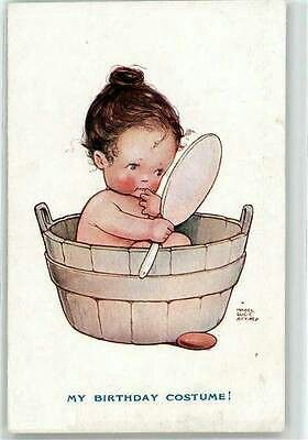 """In the tub"" ~ Postcard Illustration by Mabel Lucie Attwell"