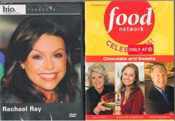 Food Network Celebrates Chocolate and Sweets DVD - 3 Disc Set Features Giada De Laurentis Sweet Endings; Desserts with Paula Deen; and Sweet Secrets Unwrapped with Marc Summers , Biography Rachael Ray - 2 Pack Gift Set - Combined Total 4 Discs