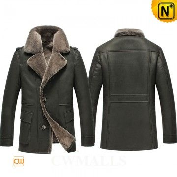 Mens Warm Shearling Coat