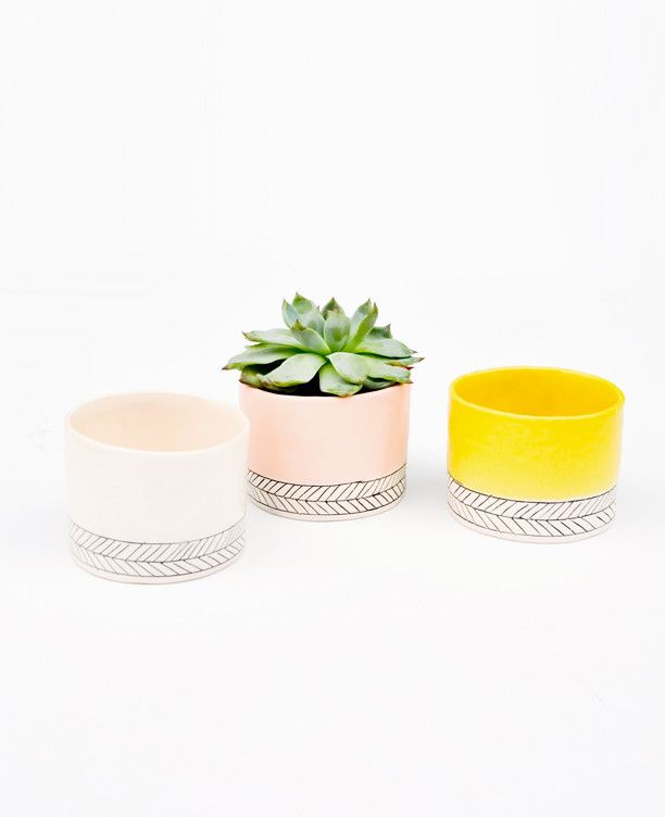 great way to add some unity to a kitchen without feeling matchy - this in yellow with the salt cellar