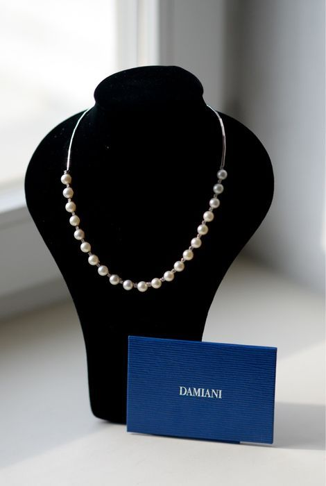 Catawiki, pagina di aste on line  Damiani – Collana in oro bianco 18 kt con perle e diamanti